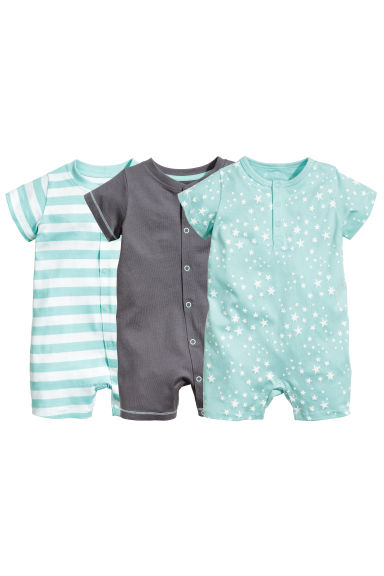 3-pack pyjamas  - Mint green/Stars - Kids | H&M 1