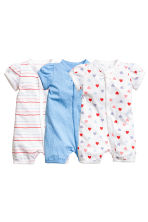3件入連身睡衣 - Blue/Spotted - Kids | H&M 1