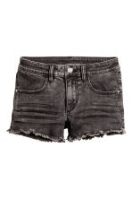 Twill shorts - Black washed out - Kids | H&M 2