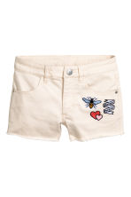 Twill shorts - Light beige - Kids | H&M 2