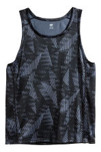 Sports vest top - Dark grey/Patterned - Men | H&M 2