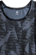 Sports vest top - Dark grey/Patterned - Men | H&M 3