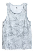 Sports vest top - Light grey/Patterned - Men | H&M 2