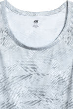 Sports vest top - Light grey/Patterned - Men | H&M 3