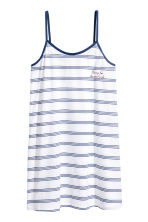 Jersey nightslip - White/Blue striped - Ladies | H&M 2