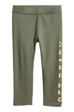 3/4-length sports tights - Khaki green - Kids | H&M 2