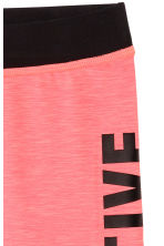 3/4-length sports tights - Coral pink - Kids | H&M 3