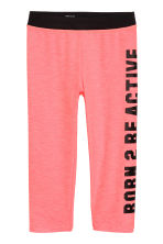 3/4-length sports tights - Coral pink - Kids | H&M 2