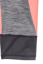 3/4-length sports tights - Dark grey marl - Kids | H&M CN 4