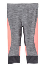 3/4-length sports tights - Dark grey marl - Kids | H&M CN 2