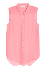Sleeveless blouse - Pink - Ladies | H&M CN 2