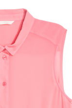 Sleeveless blouse - Pink - Ladies | H&M CN 3
