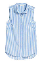 Sleeveless blouse - Blue/White/Striped - Ladies | H&M 2
