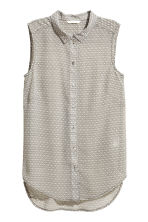 Sleeveless blouse - Light beige/Pattern - Ladies | H&M 2