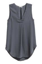 Crêpe blouse - Dark grey - Ladies | H&M 2