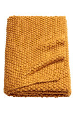 Moss-knit blanket - Mustard yellow - Home All | H&M CN 1
