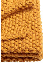 Moss-knit blanket - Mustard yellow - Home All | H&M CN 2