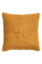 Moss-knit cushion cover - Mustard yellow - Home All | H&M CN 2