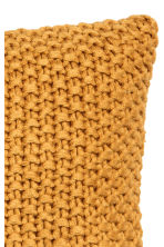 Moss-knit cushion cover - Mustard yellow - Home All | H&M CN 3