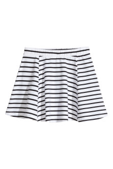 Striped jersey skirt