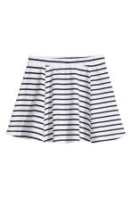 條紋平紋裙 - White/Black striped -  | H&M 2