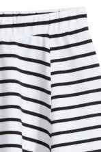 條紋平紋裙 - White/Black striped -  | H&M 3