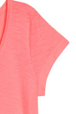 V-neck top - Neon coral - Ladies | H&M CN 3