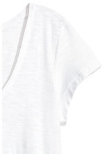 V-neck top - White - Ladies | H&M 3