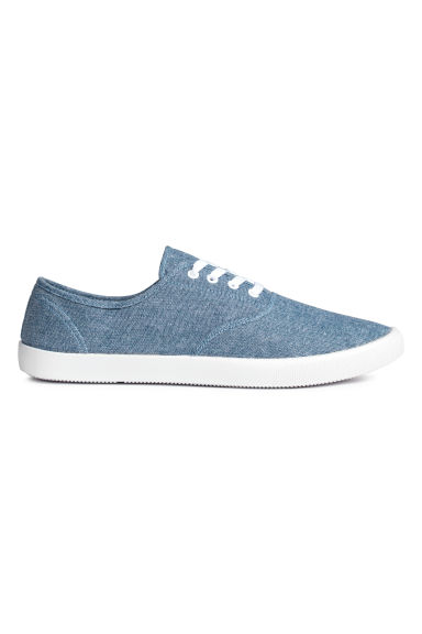 Canvas trainers - Blue/Chambray - Men | H&M 1