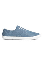 Canvas trainers - Blue/Chambray - Men | H&M CN 1
