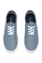 Canvas trainers - Blue/Chambray - Men | H&M CN 2