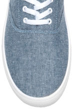 Canvas trainers - Blue/Chambray - Men | H&M 3
