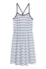 Jersey dress - White/Dark blue/Striped -  | H&M CN 2