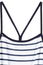 Jersey dress - White/Dark blue/Striped -  | H&M CN 3