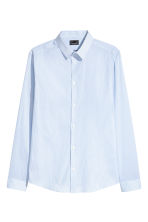 Stretch shirt Slim fit - White/Blue striped - Men | H&M CN 2