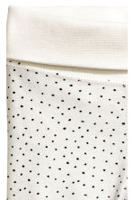 Pantaloni in jersey - Bianco naturale/pois -  | H&M IT 2