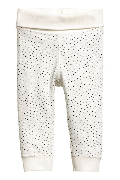 Pantaloni in jersey - Bianco naturale/pois -  | H&M IT 1