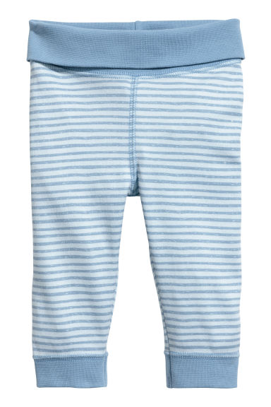 Jersey trousers - Light blue/Striped -  | H&M CA 1