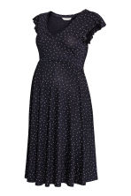 MAMA Jersey dress - Dark blue/Spotted -  | H&M 2