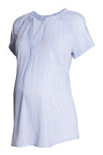 MAMA Patterned blouse - White/Blue striped - Ladies | H&M CN 2