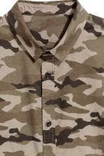 Patterned cotton shirt - Khaki/Patterned - Men | H&M CN 3