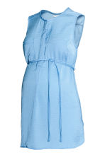 MAMA Sleeveless satin blouse - Light blue - Ladies | H&M 2