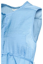 MAMA Sleeveless satin blouse - Light blue - Ladies | H&M 3