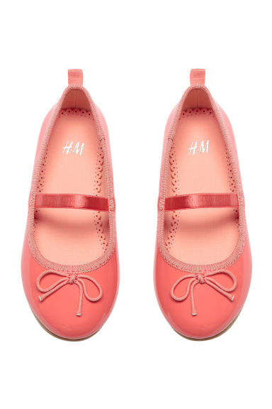Ballet pumps with strap - Coral pink - Kids | H&M 1