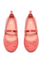 Ballet pumps with strap - Coral pink - Kids | H&M CN 1