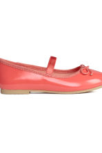 Ballet pumps with strap - Coral pink - Kids | H&M CN 3
