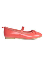 Ballet pumps with strap - Coral pink - Kids | H&M CN 2