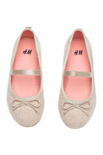 Ballet pumps with strap - Light beige - Kids | H&M CN 1