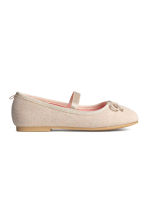 Ballet pumps with strap - Light beige - Kids | H&M CN 2