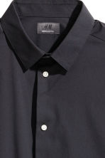 Short-sleeved stretch shirt - Black - Men | H&M 3